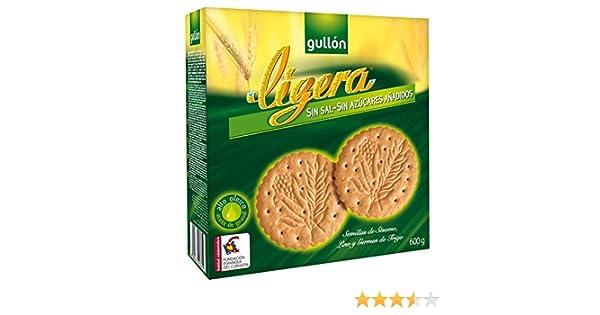 Gullón - Ligera - Galletas sin sal y sin azúcares añadidos 600 g: Amazon.es: Alimentación y bebidas