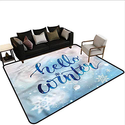 Winter,Dining Table Rugs 36