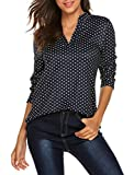 Halife Womens Long Sleeve/Sleeveless Floral Print V Neck Henley Tank Tops Blouse Shirts Tunic