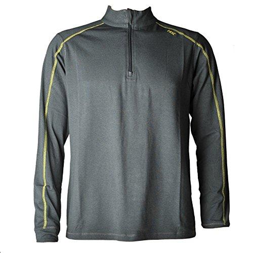 tasc performance men's carrollton 1/2-zip jacket, gun sun, small