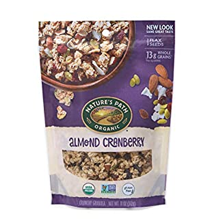 Nature's Path Almond Cranberry Granola, Healthy, Organic, Gluten-Free, 11 Ounce Pouch (Pack of 8)