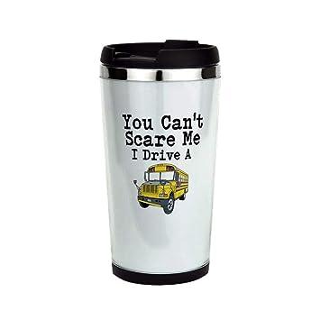 Amazon.com: You Cant Scare Me I Drive A School Bus Taza de ...