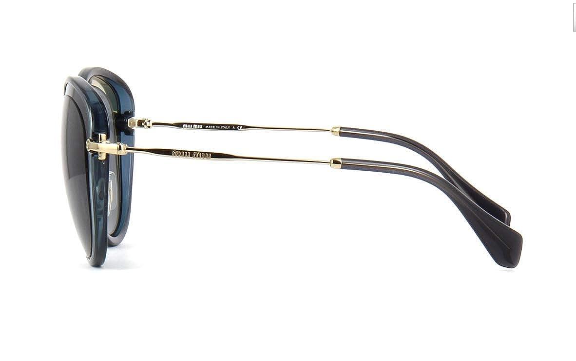 Amazon.com: Miu Miu 1 ab9 K1 BLACK-CRYSTAL Gris 50RS Oval ...