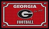 Team Sports America 41EM914 Embossed Door Mat-Georgia, Multicolor