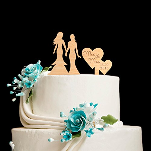 Susie85Electra Lesbian Wedding Cake Toppers Mrs And Mrs,Same Sex Cake Topper,Wedding Cake Toppers Rustic Wood,Country Wedding Decor by Susie85Electra