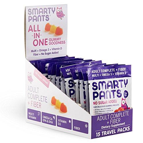 SmartyPants Adult Complete and Fiber Daily Gummy Vitamins: Multivitamin, Inulin Prebiotic Fiber & Omega 3 Fish Oil (DHA/Epa Fatty Acids), Non-GMO, 15 Count (15 Day Supply) by SmartyPants Gummy Vitamins (Image #11)