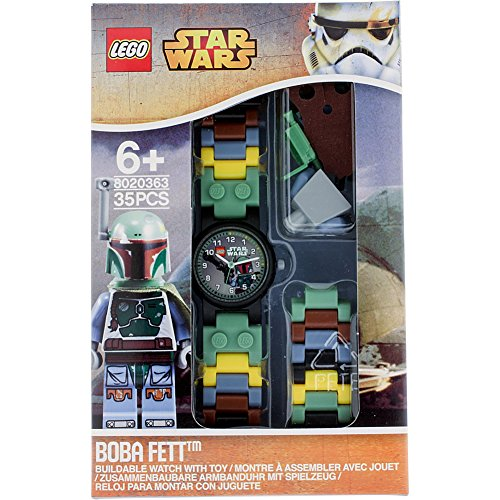 LEGO Watches Star Wars Boba Fett Kids Buildable Watch with Link Bracelet and
