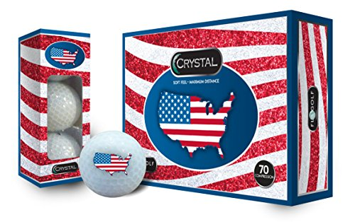 Crystal Golf Balls USA Flag Logo