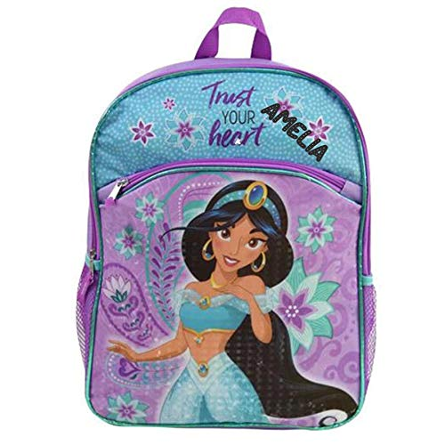 Personalized Licensed Disney Character Backpack - 16 Inch (Aladdin Princess -