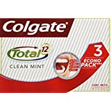 Colgate Pasta Dental Total 12 Clean Mint, 75 ml, Paquete de 3 Piezas