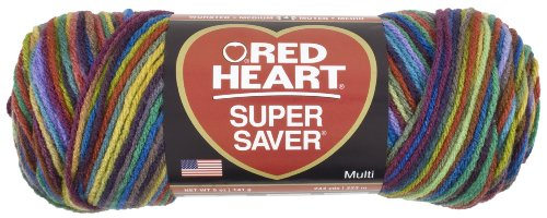 Red Heart Super Saver Economy Yarn, Primary Print