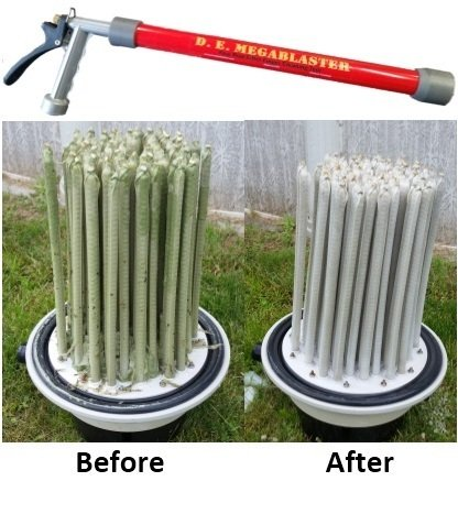 D. E. Megablaster Hayward Pool Filter Cleaner Diatomaceous Earth Filter Cleaning