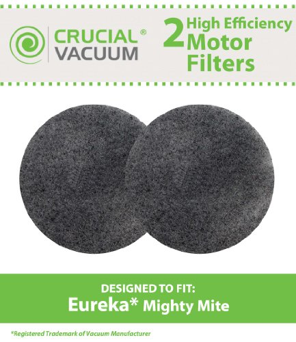 2 Replacements for Eureka Mighty Mite Motor Foam Filter Fits Mighty Mite & Sanitaire Vacuums, Compatible With Part # 38333, by Think Crucial - Eureka Foam Filter
