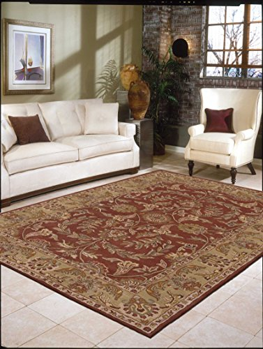 Nourison India House (IH58) Rust Rectangle Area Rug, 2-Feet by 3-Feet  (2' x 3')