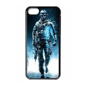Battlefield 3 Juego de Acción iPhone 5C caja del teléfono celular funda Negro caja del teléfono celular Funda Cubierta EEECBCAAH74656