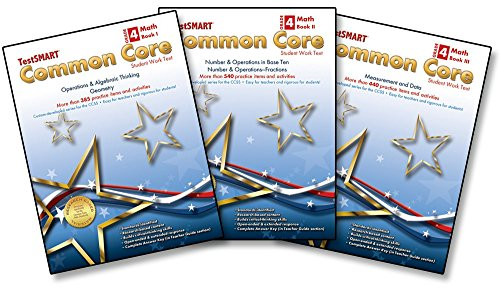 TestSMART® Common Core Mathematics Work Text, Grade 4 (Book I, II, & III Bundle)
