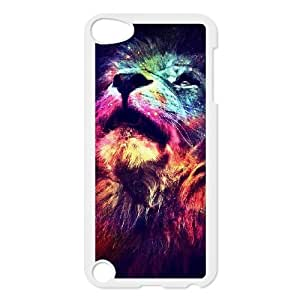 Custom Hard Protective Cover Case for Ipod Touch 5 Phone Case - Lion Space Nebula HX-MI-006921