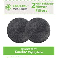 2 Replacements for Eureka Mighty Mite Motor Foam Filter Fits Mighty Mite & Sanitaire Vacuums, Compatible With Part # 38333, by Think Crucial
