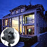 Snowflake Projector, Transer Rotating Snowflake Projection Led Lights Projection Lamp (white)