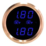 (US) VEI Systems Dual-Display gauge: Dual 1800 deg-F digital EGT/pyrometer/exhaust-gas temperature gauge (blue/silver)