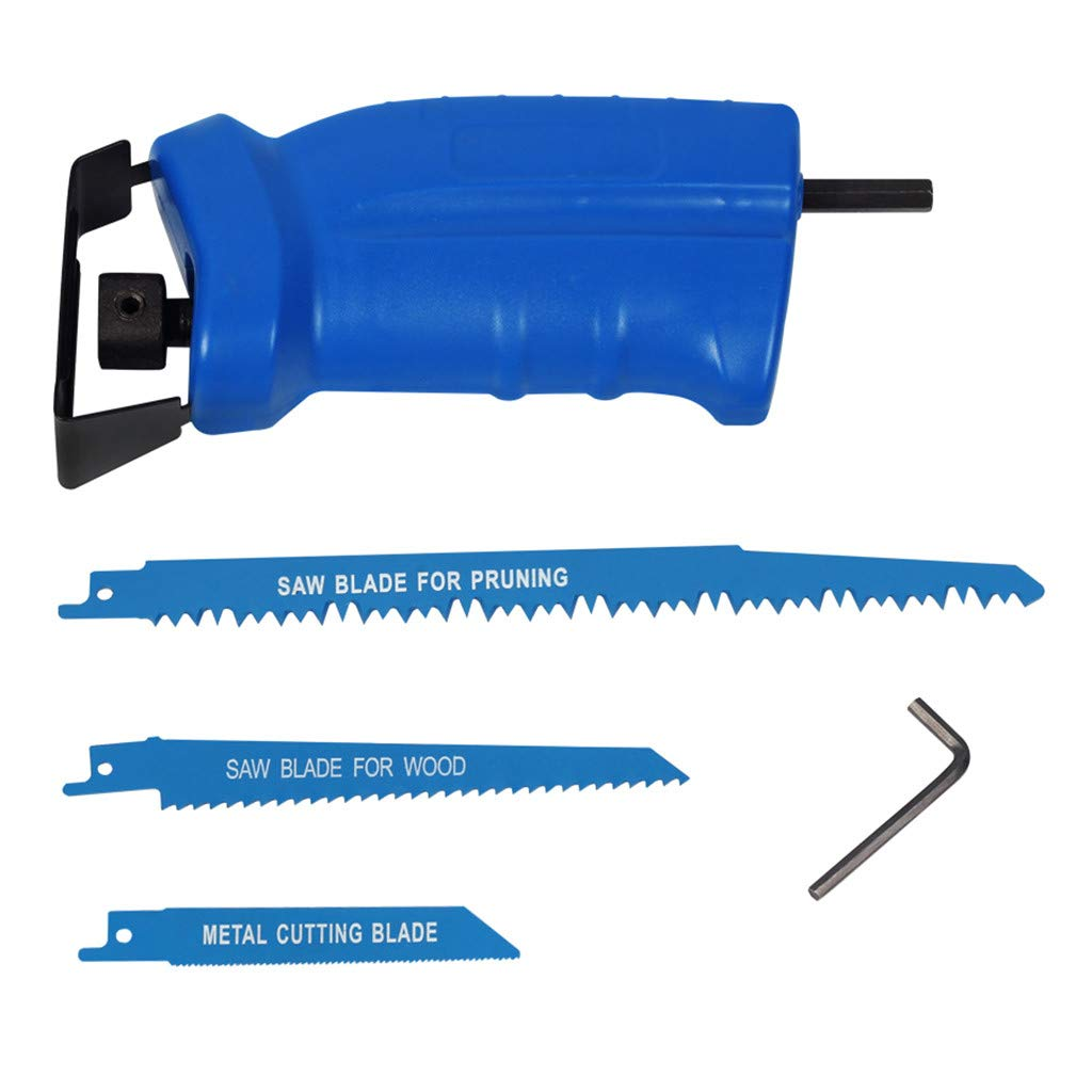 Premium Electric Drill Attachment Reciprocating Saw Jigsaw Handle Wrench Set
