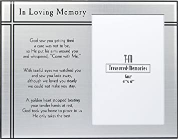 ganz photo frame in loving memory er26974