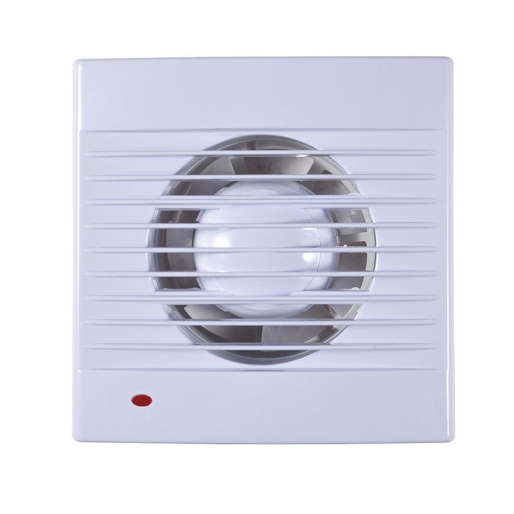 Extractor Fan,110V Wall-Mounted One Speed Setting Shutter Ventilating Exhaust Fan for Bathroom Toilet Kitchen Window Wall (6inch)