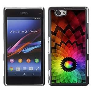 Be Good Phone Accessory // Dura Cáscara cubierta Protectora Caso Carcasa Funda de Protección para Sony Xperia Z1 Compact D5503 // Abstract Colorful Flower