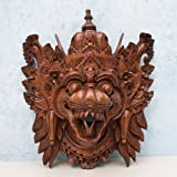 Barong Naga Mask Balinese Dragon Hand Carved Wood Bali Wooden Wall Decor Art