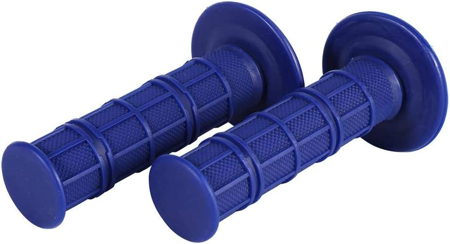 Hand Grips for Motorcycle 7//8 22mm Motorcycle Handlebar Grips Non-slip Comfortable Hand Grips for Pit Dirt Bike Blue