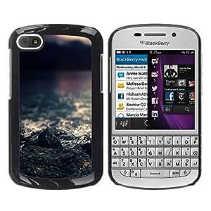 Be Good Phone Accessory // Dura Cáscara cubierta Protectora Caso Carcasa Funda de Protección para BlackBerry Q10 // Sea Rocks