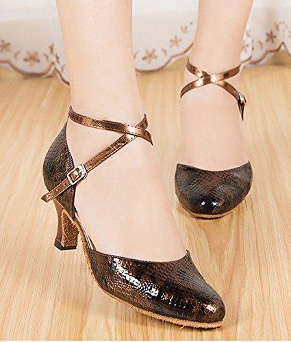 Sintético Heel MGM 6cm de Joymod Cuña Sandalias Mujer con Brown wwX6zq