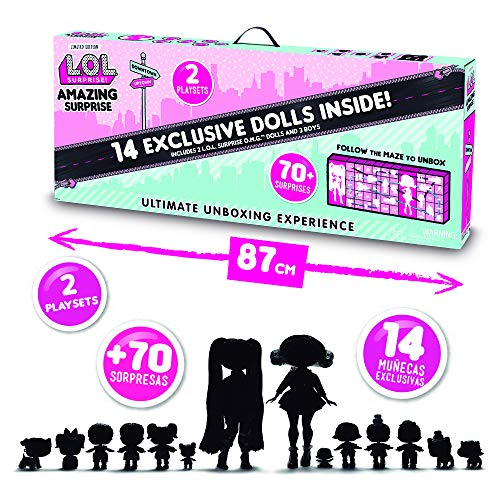 L.O.L. Surprise! Amazing Surprise with 14 Dolls, 70+ Surprises & 2 Playsets Now $94.99 (Was $129.99)