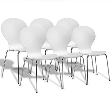 Luckyfu Este Juego de 6 sillas de Cocina/Comedor de Mariposa ...