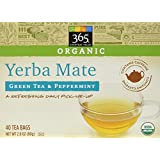 365 Everyday Value Organic Yerba Mate with Green Tea & Peppermint (40 Tea Bags), 2.82 oz