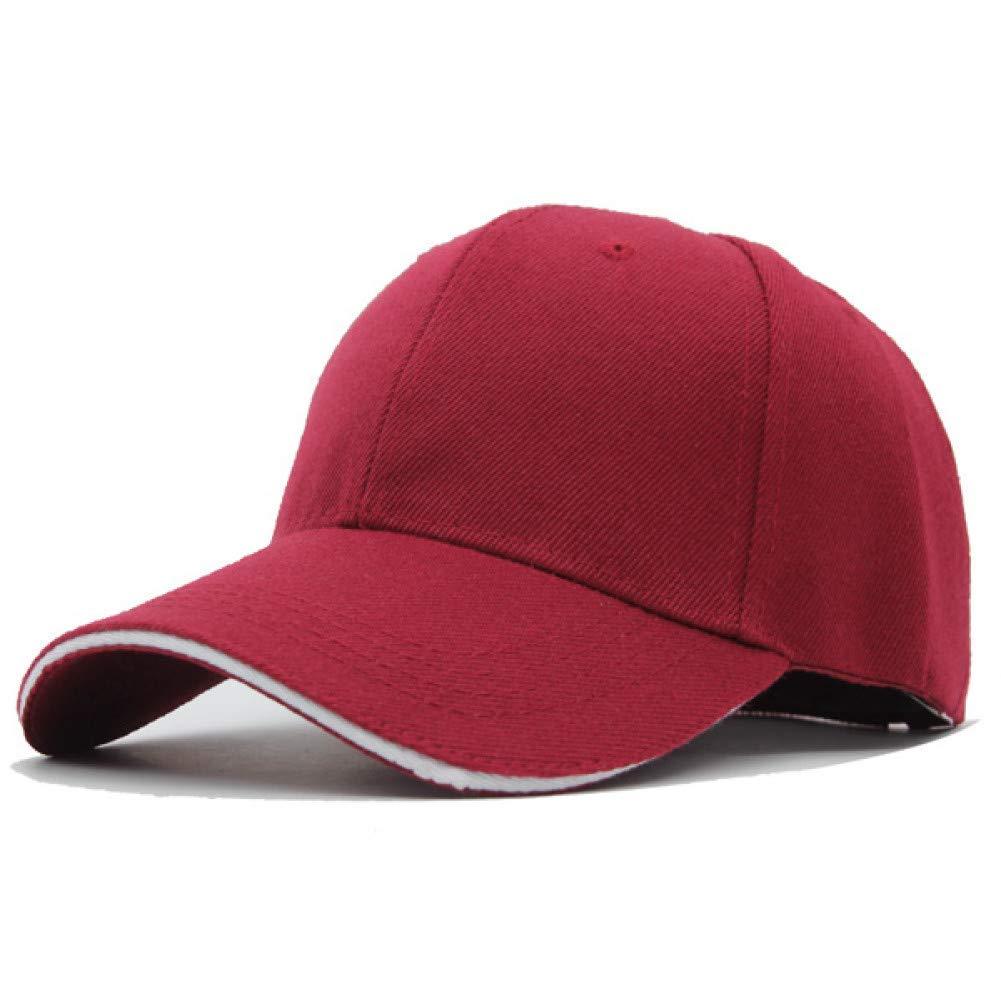 Outdoor Sports hat Baseball Cap Baseball Cap Men Hats for Men Women Casual Cap Plain Bone Trucer Baseball Hat Caps GrljdHat (color   Wine red, Size   5561CM)