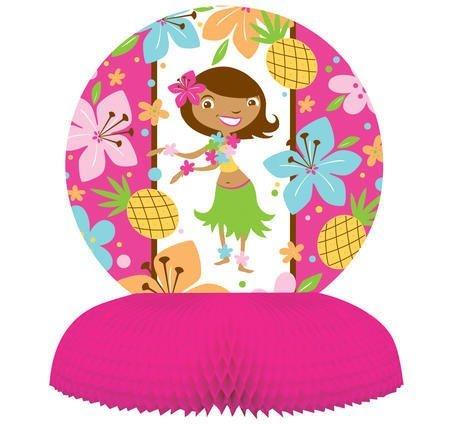 Creative Converting Pink Luau Fun Honeycomb Centerpiece Party Decoration (Hawiian Luau)