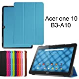 Acer Iconia One 10 B3-A10 Slim Shell Case,Mama Mouth Ultra Slim Lightweight 3-folding PU Leather Standing Cover For 10.1