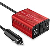 Automotive : Enkey 150W Car Power Inverter DC 12V to 110V AC Converter with 3.1A Dual USB Charger