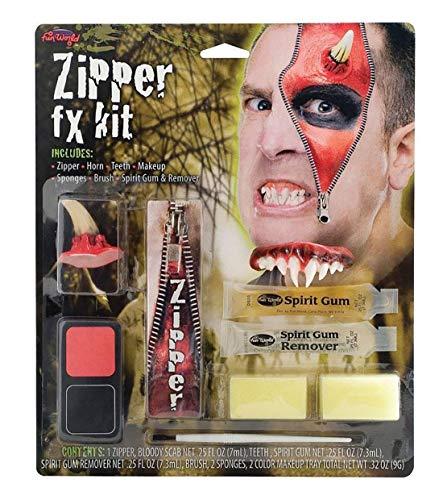 MA ONLINE Mens Fancy Horror Zipper FX Make