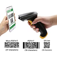 TEEMI QR barcode scanner Handheld Automatic USB wired 1D 2D bar codes Imager with USB Cable for Mobile Payment Computer Screen Scan support Mac OS