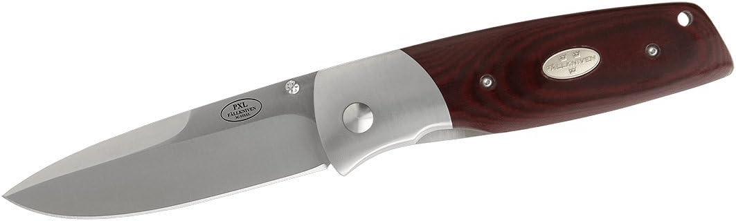 Fallkniven 9001736 PXLmm Fine Edge Folding Knife Micarta Handle, Maroon