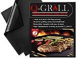 Q-Grill BBQ Grill Mat 2 Pack - Non Stick Grill Mats - Heavy