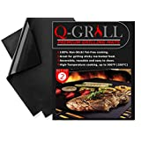 Q-Grill BBQ Grill Mat 2 Pack - Non Stick Grill Mats - Heavy Duty, Easy to Clean, and Reusable
