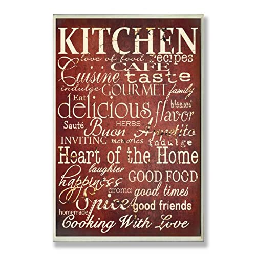 The Stupell Home Decor Collection Words In Kitchen Wall Plaque Off Red