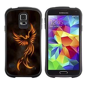 Paccase / Suave TPU GEL Caso Carcasa de Protección Funda para - Minimalist Angel - Samsung Galaxy S5 SM-G900