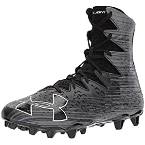 Under Armour Men's Highlight M.C, Black (001)/Metallic Silver, 12