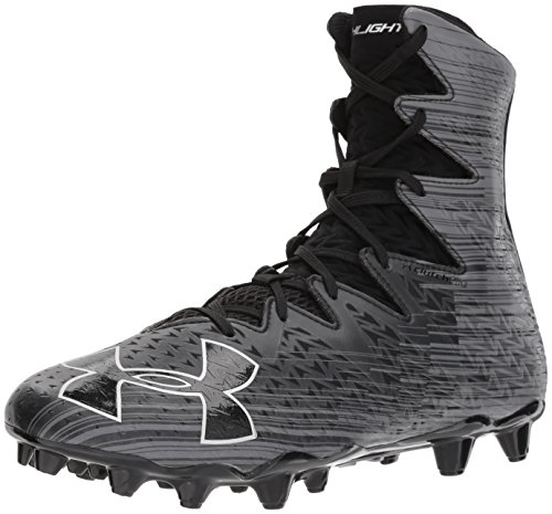 Under Armour Men's Highlight M.C. Lacrosse Shoe, Black (001)/Metallic Silver, 16