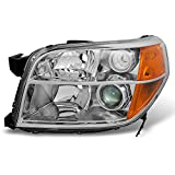 For Honda Pilot Clear Chrome Driver Left Side Front Projector Headlight Lamp Front Light Replacement