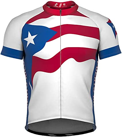 ScudoPro Puerto Rico Short Sleeve Cycling Jersey for Youth